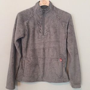 North Face Fleece Gray Full Sleeve